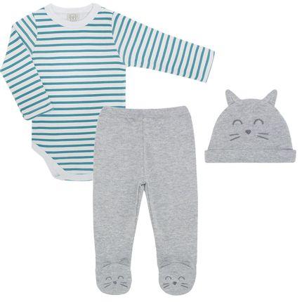 PL65987_A-moda-bebe-menino-conjunto-body-longo-calca-touca-mescla-Pingo-Lele-no-Bebefacil-loja-de-roupas-e-enxoval-para-bebes