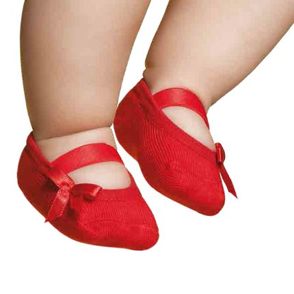 PK6926L-VR-Moda-bebe-menina-meia-sapatilha-vermelha-puket