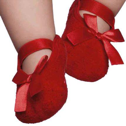 PK6979L-VR-Moda-bebe-menina-meia-sapatilha-soft-vermelho-puket