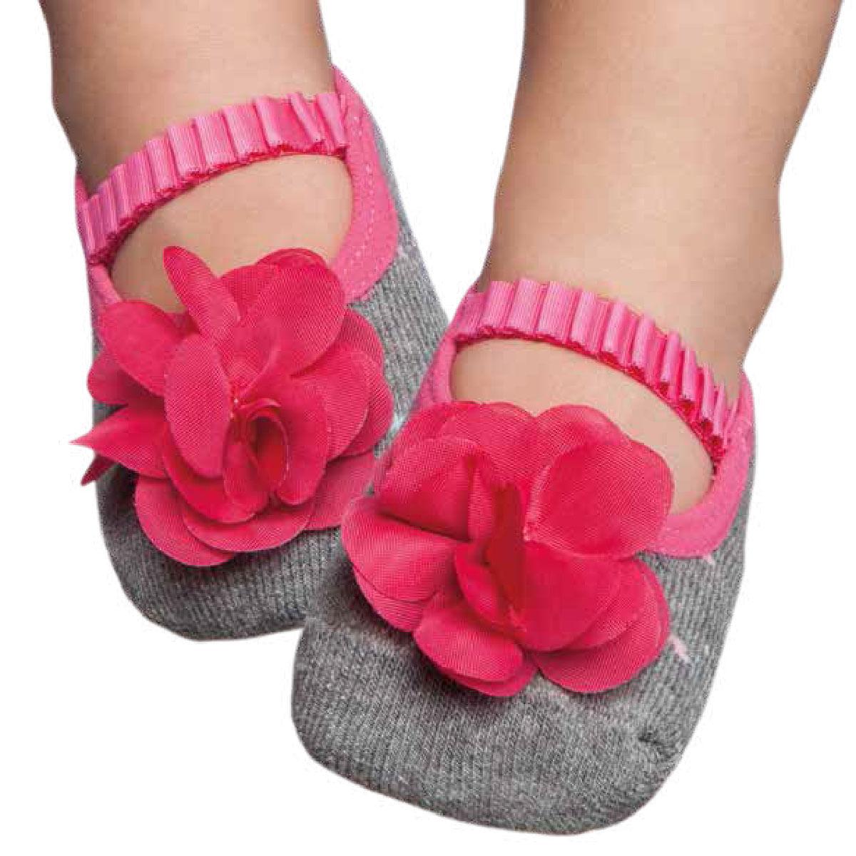 8d1c202ebd Meia Sapatilha para bebê Flor Pink - Puket no Bebefacil