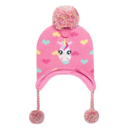 PK0504-UNI_A-moda-infantil-menina-gorro-de-la-pompom-rosa-unicornio-Puket-no-bebefacil-loja-de-roupas-enxoval-acessorios-para-bebes