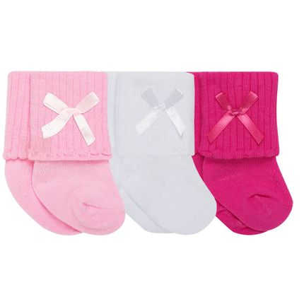 PK6950L-R_A-moda-bebe-menina-tripack-3-meias-soquete-pink-branca-rosa-Puket-no-Bebefacil-loja-de-roupas-enxoval-e-acessorios-para-bebes