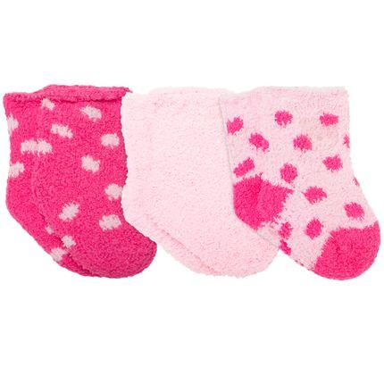 PK6980-B_A-moda-bebe-menina-tripack-3-meias-soquete-soft-rosa-pink-Puket-no-Bebefacil-loja-de-roupas-enxoval-e-acessorios-para-bebes