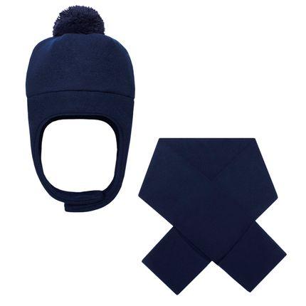 KI500_A-moda-infantil-menino-kit-touca-pompom-cachecol-com-bolsos-em-soft-marinho-kids.com-no-bebefacil-loja-de-roupas-enxoval-e-acessorios-para-bebes