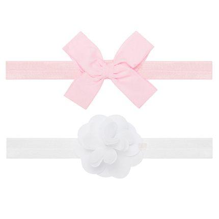 PK2264-RS_A-moda-bebe-menina-acessoros-kit-2-faixas-de-cabelo-laco-rosa-flor-branca-Puket-no-bebefacil-loja-de-roupas-enxoval-e-acessorios-para-bebes