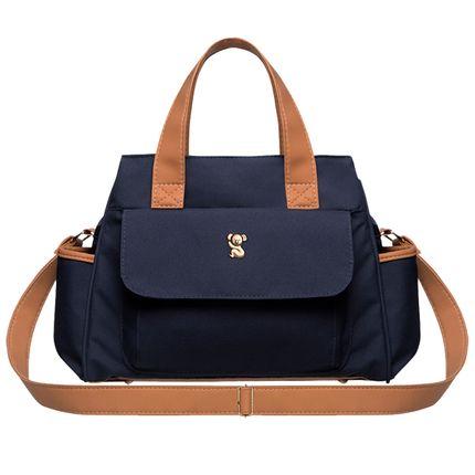 BOBM9043-A-Bolsa-Maternidade-Bella-M-Oxford-Marinho---Classic-for-Baby-Bags