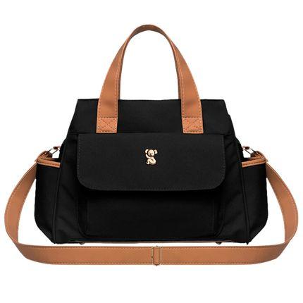 BOBM9045-A-Bolsa-Maternidade-Bella-M-Oxford-Preto---Classic-for-Baby-Bags