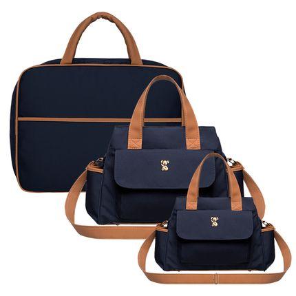 MOM9043---BOBM9043---BOBP9043-A-Mala-Maternidade---Bolsa-Bella-M---Bolsa-Termica-Bella-P-Oxford-Marinho---Classic-for-Baby-Bags