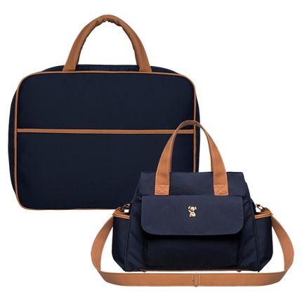 MOM9043---BOBM9043-A-Mala-Maternidade---Bolsa-Maternidade-Bella-M-Oxford-Marinho---Classic-for-Baby-Bags