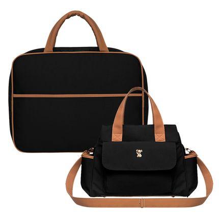 MOM9045---BOBM9045-A-Mala-Maternidade---Bolsa-Maternidade-Bella-M-Oxford-Preto---Classic-for-Baby-Bags