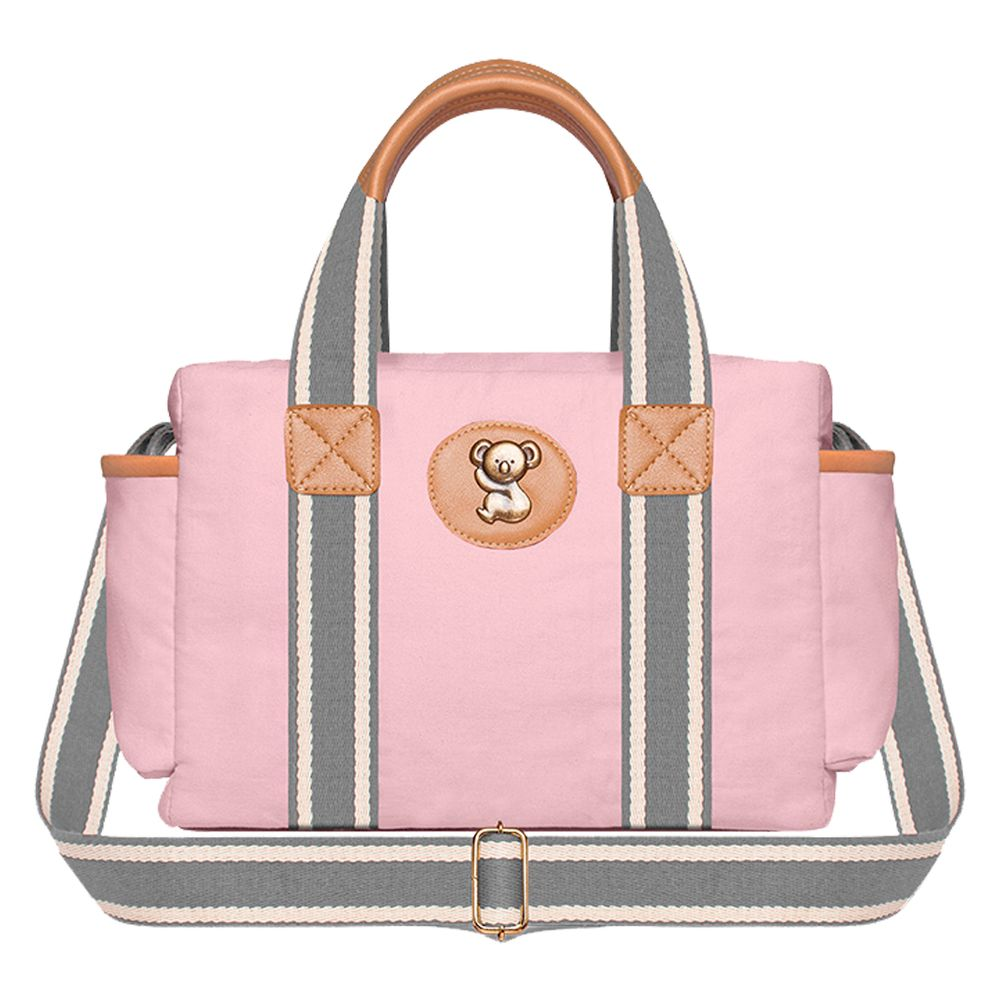 FSGC9024-A-Bolsa-Termica-para-bebe-Gold-Coast-Adventure-em-sarja-Rosa---Classic-for-Baby-Bags