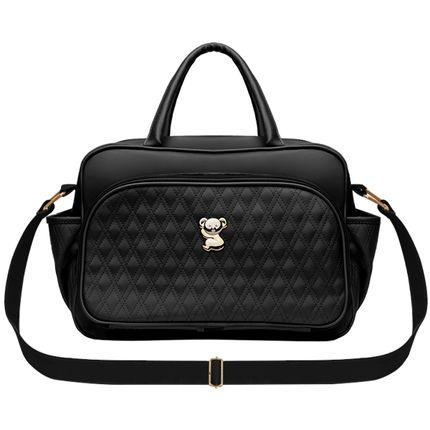 VNK9045-A-Bolsa-maternidade-para-bebe-Veneza-Golden-Koala-Preta---Classic-for-Baby-Bags