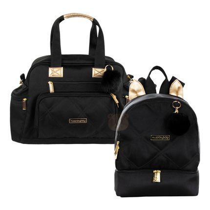 MB11SHO299.23---MB11SHO301.23-A-Bolsa-Everyday---Mochila-Maternidade-Gatinho-Soho-Black---Masterbag