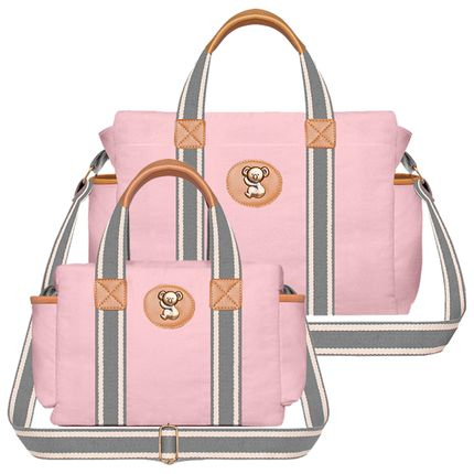 BSA9024-FSGC9024-A-Bolsa-Maternidade-para-bebe-Albany---Frasqueira-Termica-Gold-Coast-em-sarja-Adventure-Rosa---Classic-for-Baby-Bags