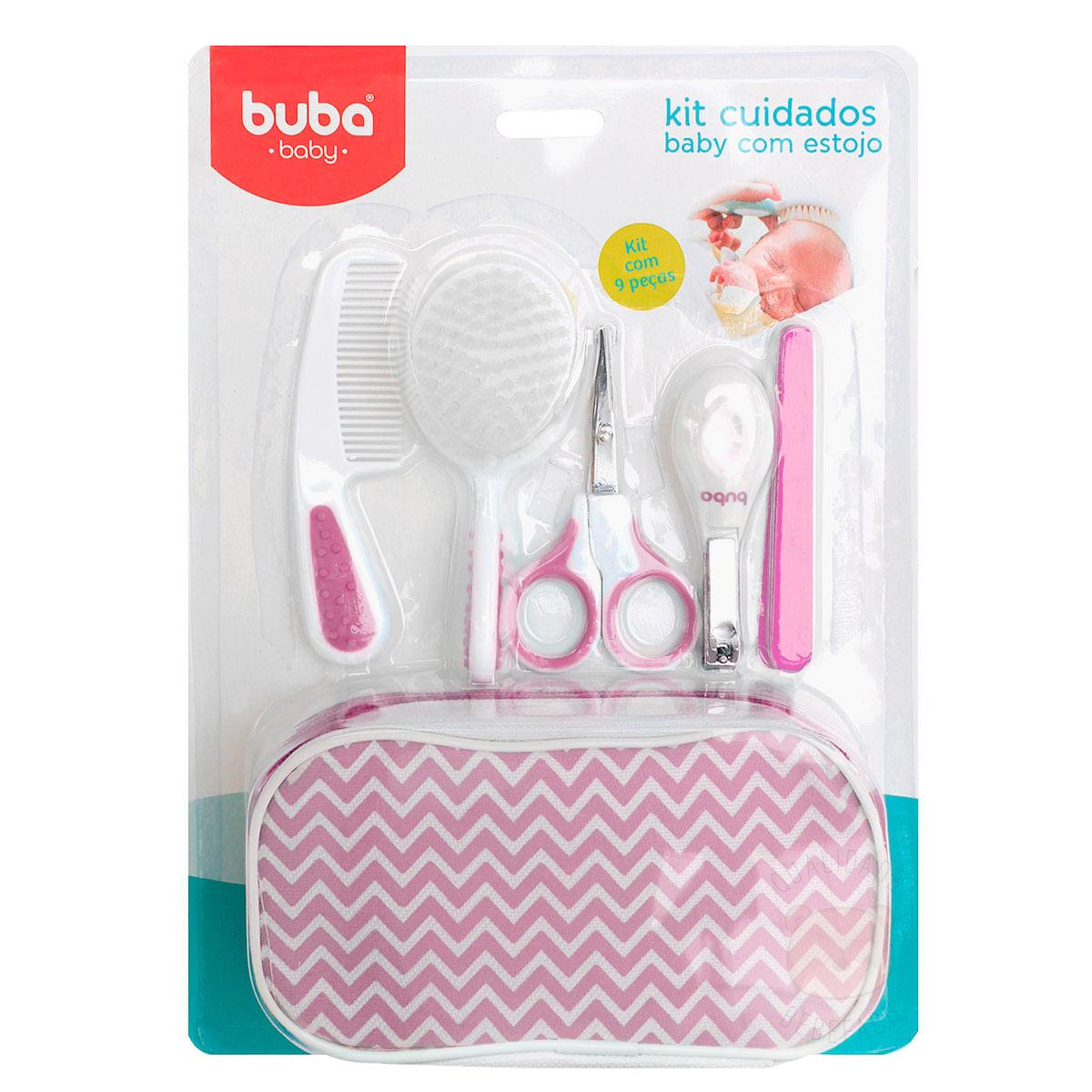 8987b030bd Kit de Cuidados Baby com Estojo Rosa - Buba - bebefacil