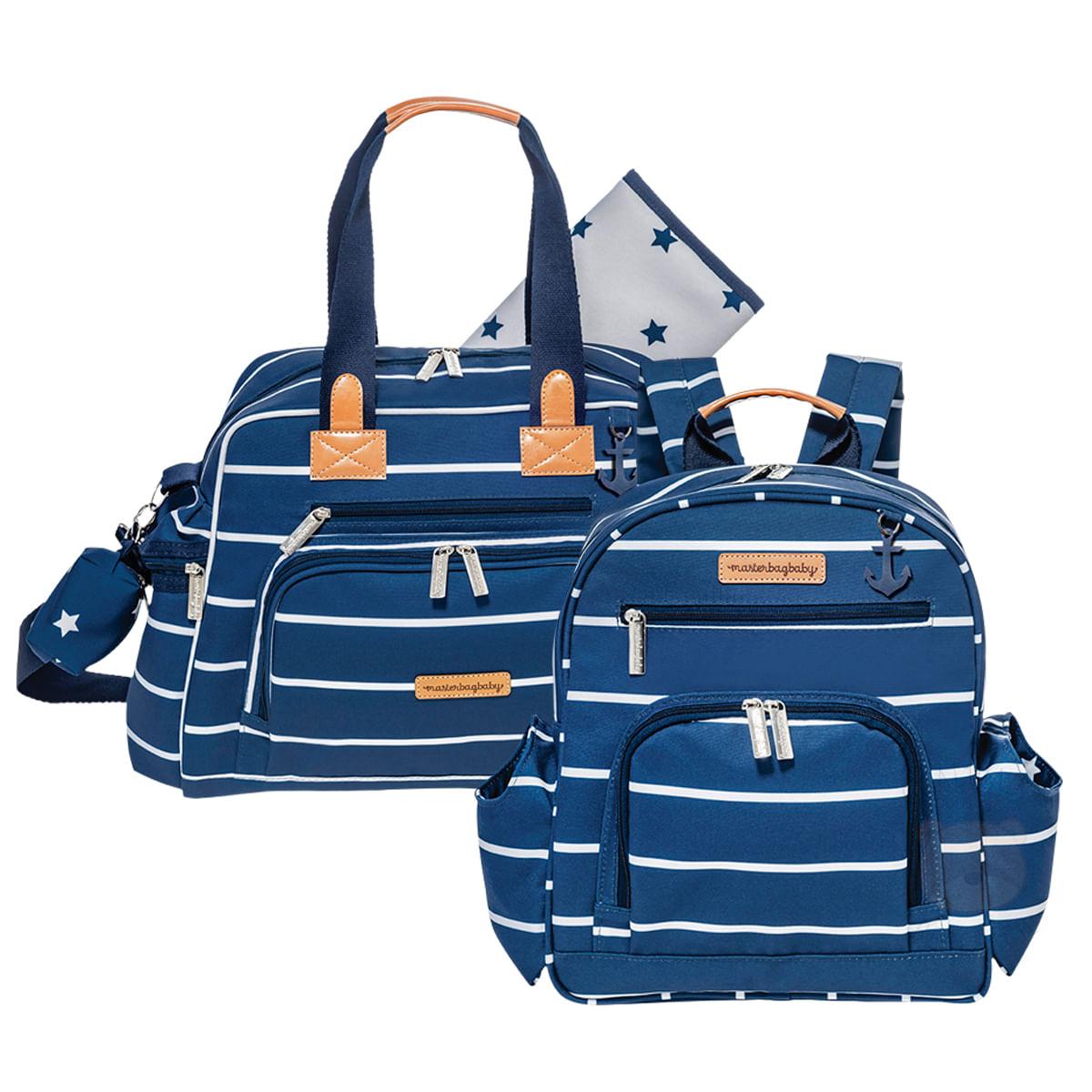 ea5b9b5b9e Bolsa Everyday + Mochila Maternidade Noah Navy Star Marinho - Masterbag -  bebefacil