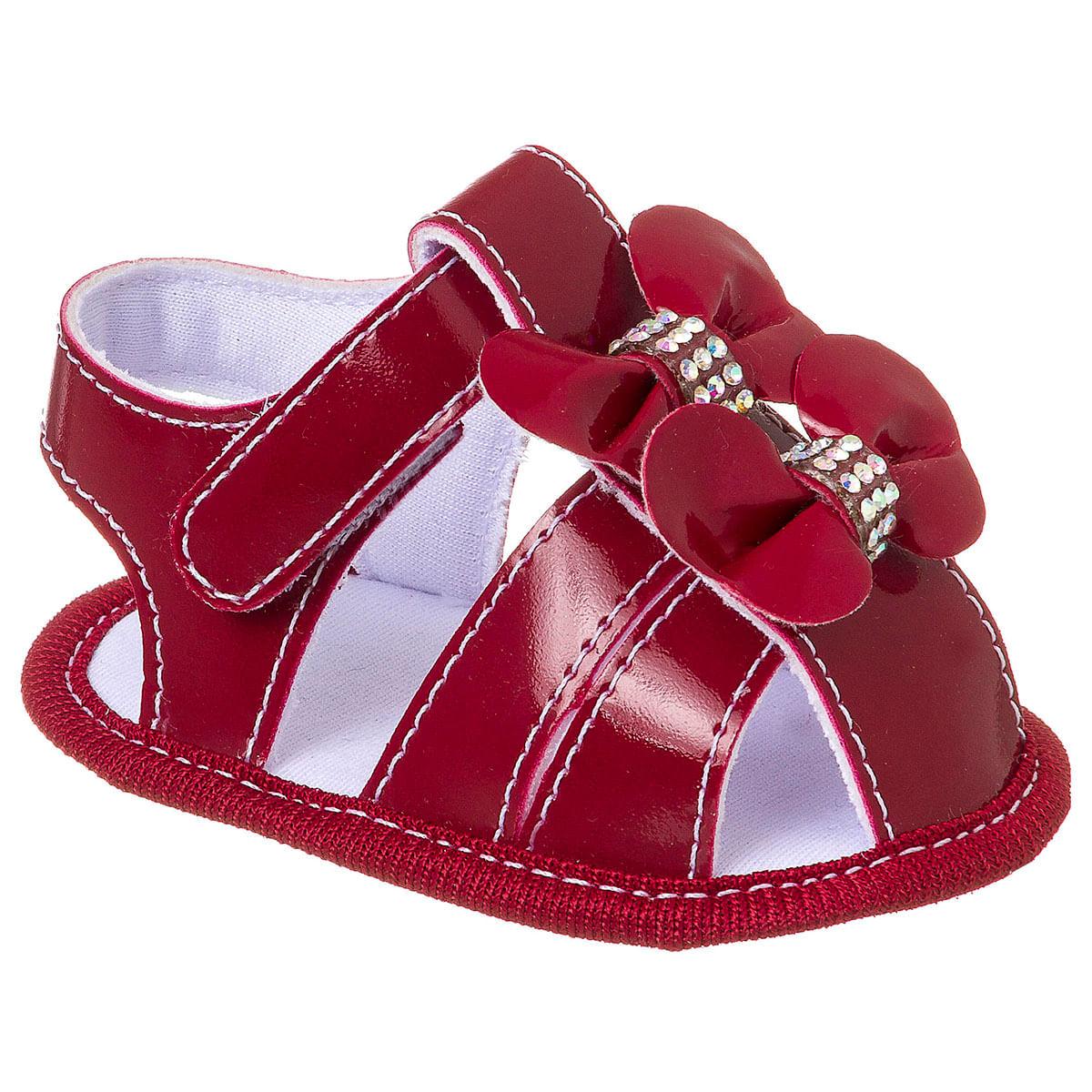 e9b7880c4 Sandália para bebê Laço & Strass Vermelha - Keto Baby no Bebefacil, a sua  loja de sapatinhos e enxoval de bebê - bebefacil