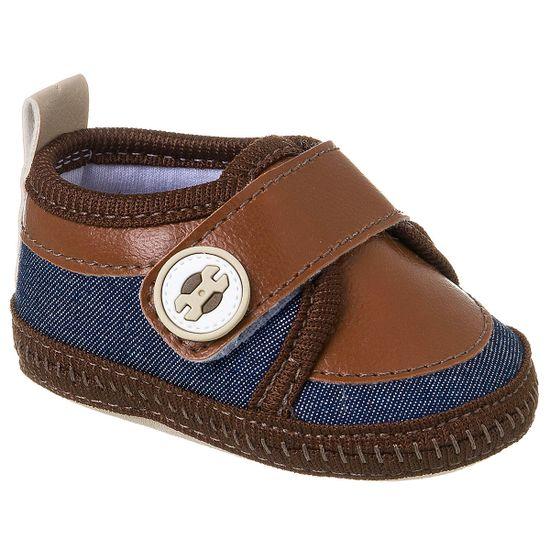 KB3189-184_A-sapatinhos-bebe-menino-mocassim-denim-marrom-keto-babay-no-bebefacil-loja-de-roupas-enxoval-e-acessorios-para-bebes