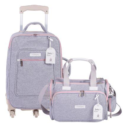 MB11MOL404.25---MB11MOL210.25-A-Mala-Maternidade-com-rodizio---Bolsa-Termica-para-bebe-Anne-Moletom-Rosa---Masterbag