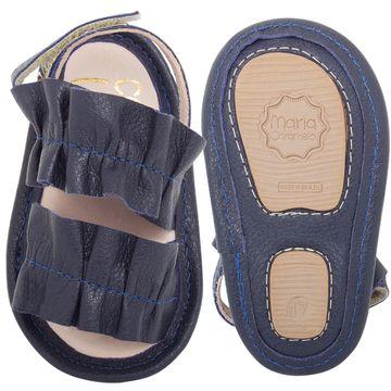 MC295.6107_A-sapatinhos-bebe-menina-sandalia-frufru-em-couro-marinhos-maria-caramelo-no-bebefacil-loja-de-roupas-enxoval-e-acessorios-para-bebes