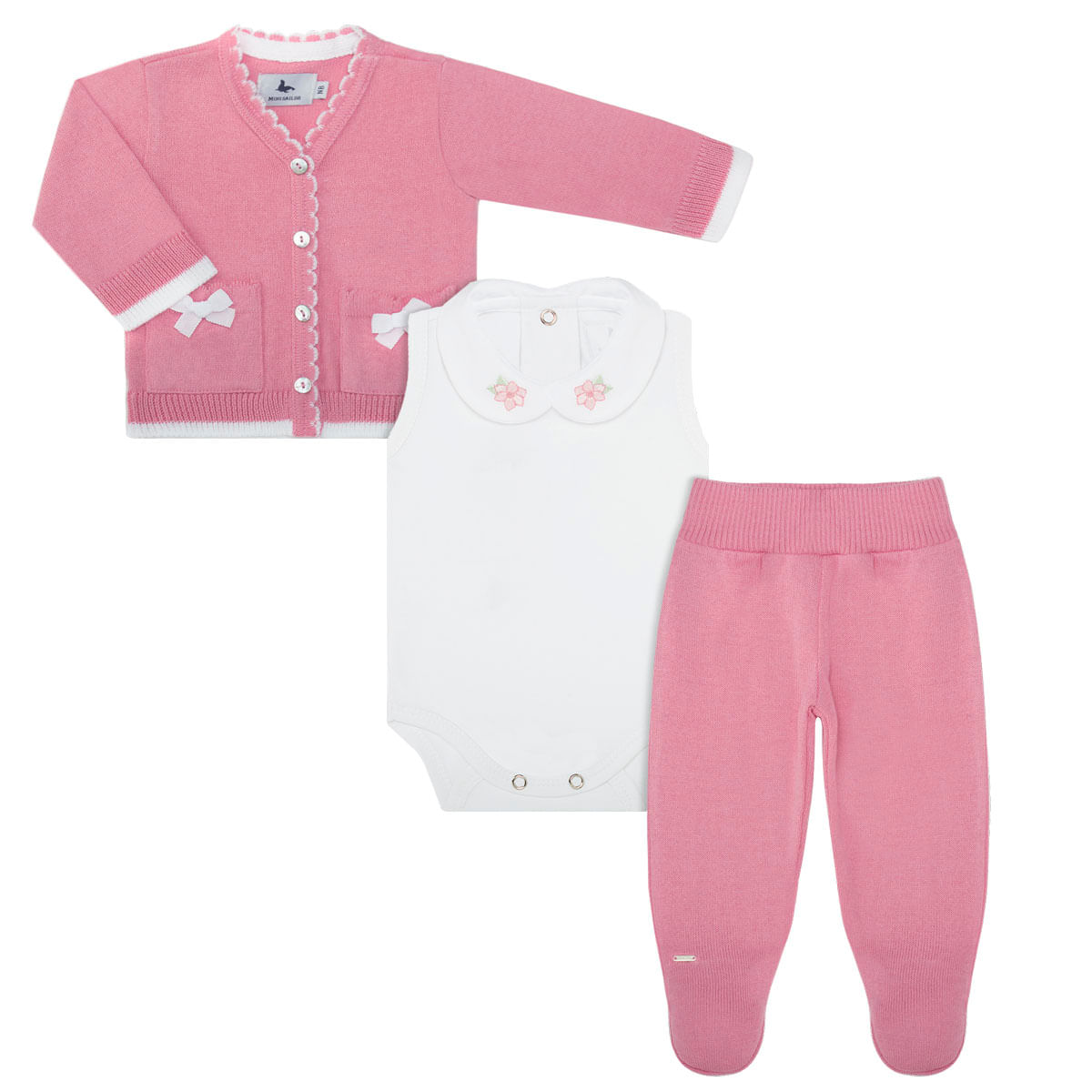 df8a0aefcf941 Pagão Floral Casaquinho Body Regata Calça Mijão em tricot- Mini Sailor no  bebefacil loja de roupas enxoval acessorios e brinquedos para bebes -  bebefacil