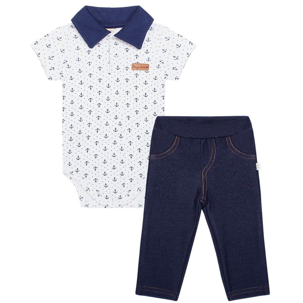 5dabefcd48 Body Polo com Calça para bebê Ursinho Pirata - Pingo Lelê no Bebefacil onde  você encontra tudo em roupas e enxoval para bebês - bebefacil