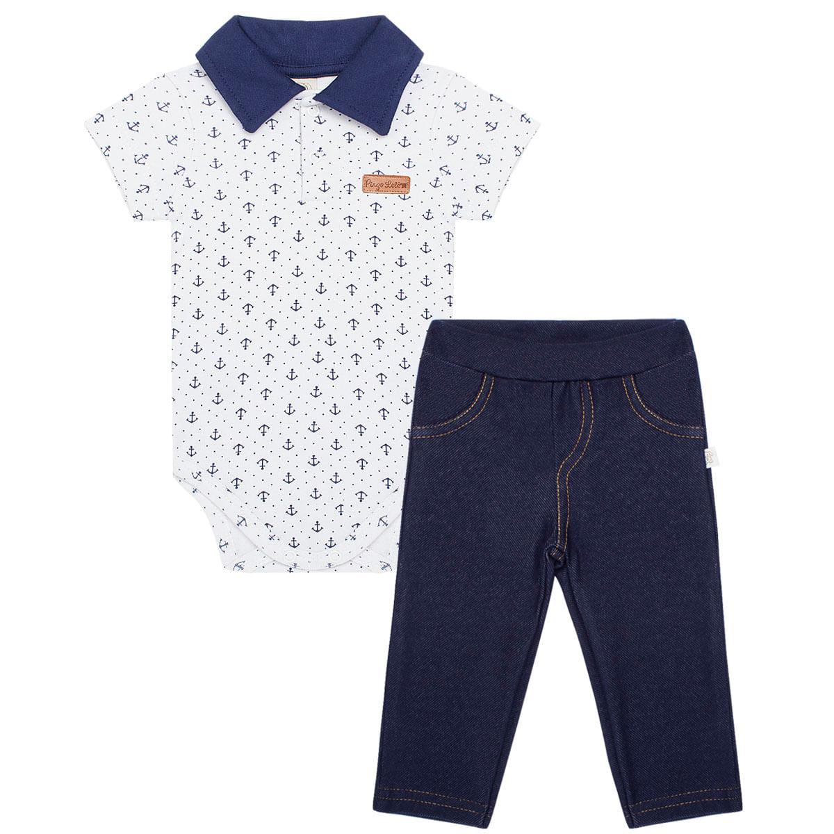 fd24a64ddc21 Body Polo com Calça para bebê Ursinho Pirata - Pingo Lelê no Bebefacil onde  você encontra tudo em roupas e enxoval para bebês - bebefacil