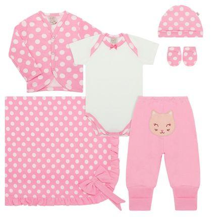 PL66063_A-moda-bebe-menina-jogo-maternidade-casaquinho-body-curto-calca-touca-luva-manta-em-suedine-meow-pingo-lele-no-bebefacil-loja-de-roupas-enxoval-e-acessorios-para-bebes