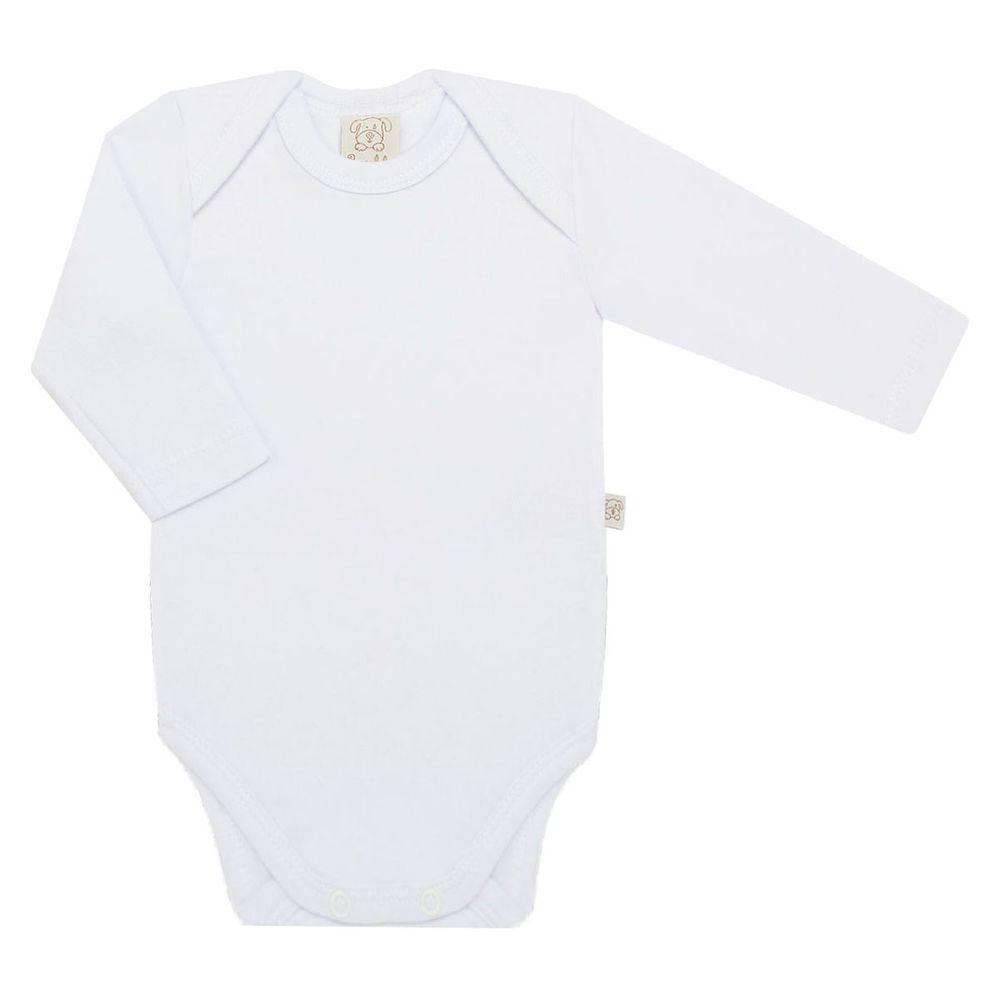 PL65438-BR-moda-bebe-menino-menina-body-longo-suedine-branco-pingo-lele-no-bebefacil-loja-de-roupas-enxoval-e-acessorios-para-bebes