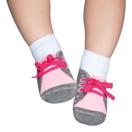 PK7036-B-moda-bebe-menina-meia-tenis-mescla-rosa-puket-no-bebefacil-loja-de-roupas-enxoval-e-acessorios-para-bebes