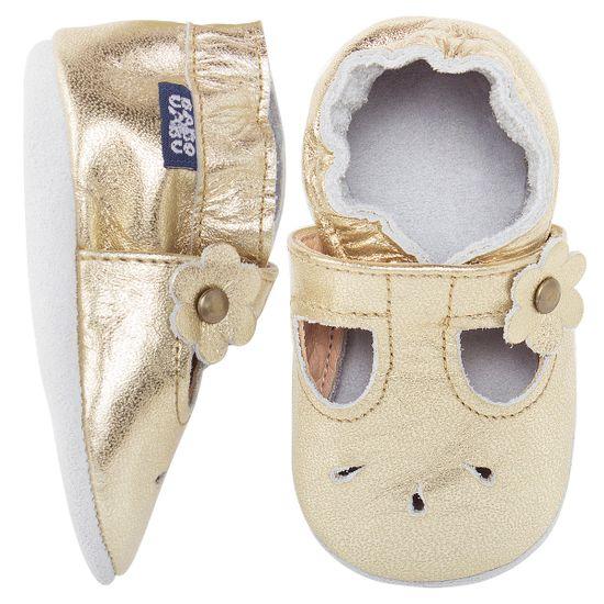 BABO36_A-sapatinho-bebe-menina-sandalia-boneca-metalizada-em-couro-eco-dourada-babo-uabu-no-bebefacil-loja-de-roupas-enxoval-e-acessorios-para-bebes