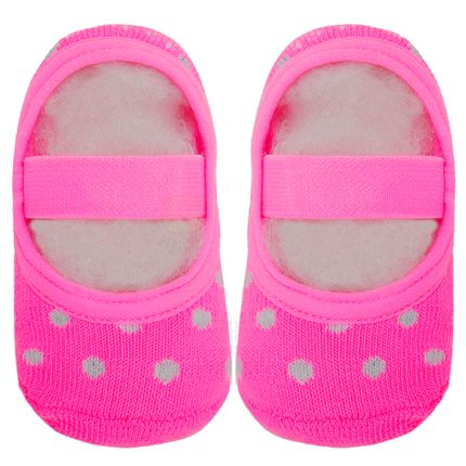 PK6926L-RF_A-moda-bebe-menina-meia-sapatilha-poa-rosa-fluor-puket-no-bebefacil-loja-de-roupas-enxoval-e-acessorios-para-bebes