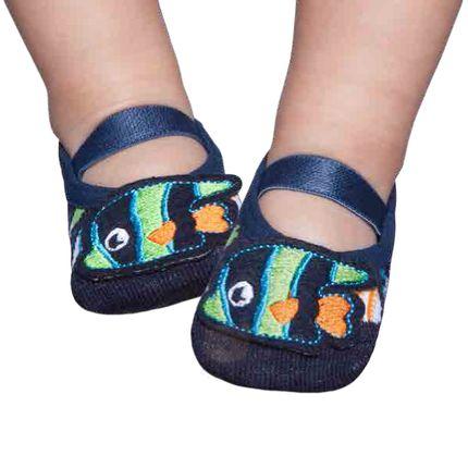 PK6939D-MR_A-moda-bebe-menino-meia-sapatilha-boneca-com-aplique-marinho-fish-puket-no-bebefacil-loja-de-roupas-enxoval-e-acessorios-para-bebes