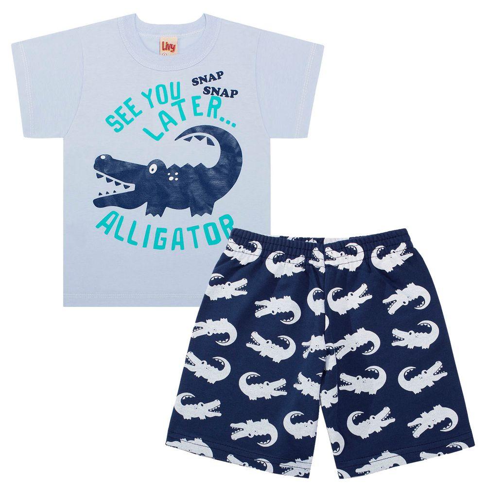 Camiseta c  Bermuda em malha Blue Alligator - Livy no Bebefacil ... 7a616221a468e