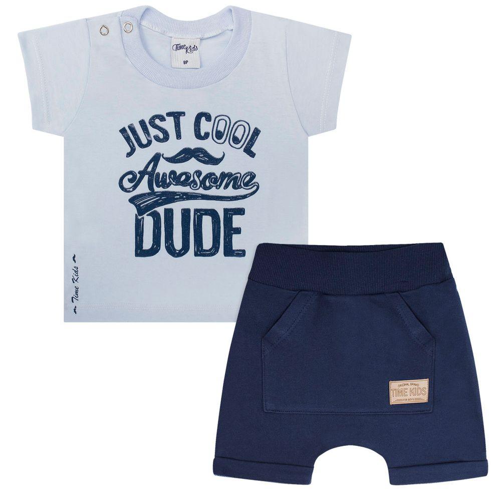 TK5683-A-moda-menino-conjunto-camiseta-shorts-just-cool-time-kids-no-bebefacil-loja-de-roupas-enxoval-e-acessorios-para-bebes