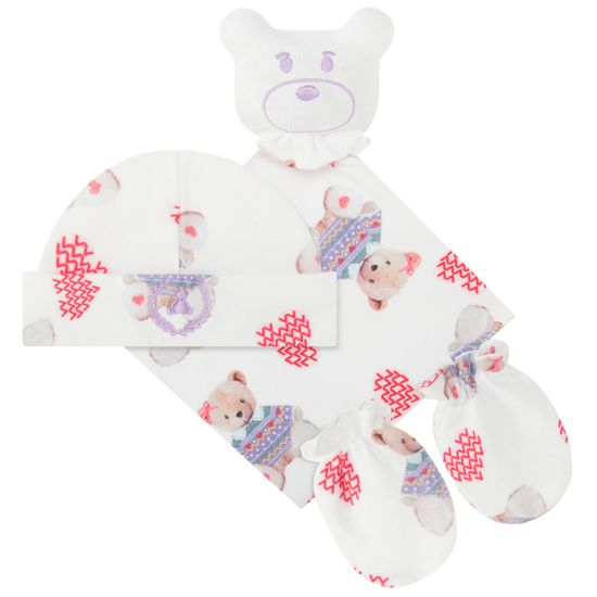 CQ18.042-33_A-enxoval-e-maternidade-bebe-menina-nanninha-touca-para-de-luvas-em-suedine--baby-bear-coquelicot-no-bebefacil-loja-de-roupas-enxoval-e-acessorios-para-bebes