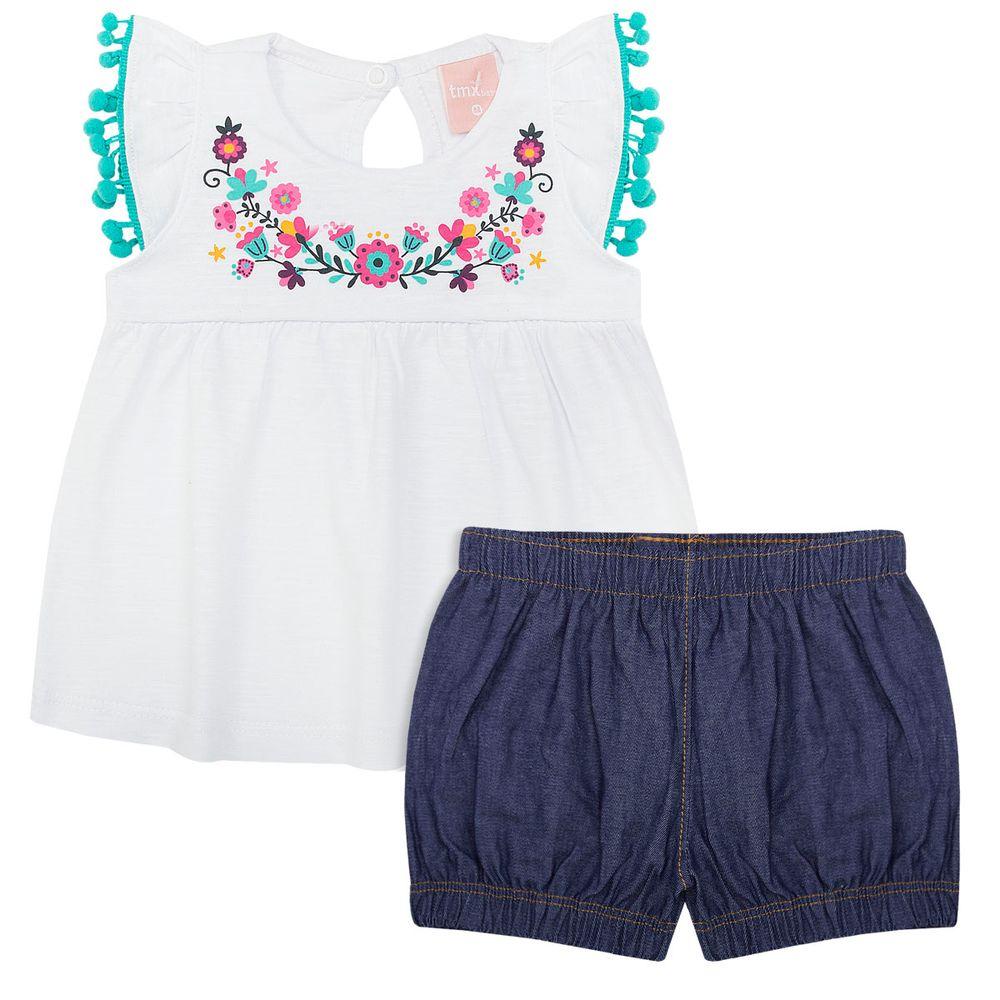 TMX0041-BR_A-moda-bebe-menina-conjunto-bata-shorts-jeans-flores-tmx-no-bebefacil-loja-de-roupas-enxoval-e-acessorios-para-bebes