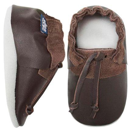 BABO54_A-sapatinho-bebe-menino-sapatinho--top-sider-em-couro-Eco-chocolate-babo-uabu-no-bebefacil-loja-de-roupas-enxoval-e-acessorios-para-bebes