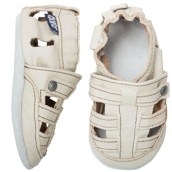 BABO60_A-sapatinho-bebe-menino-sandalia-franciscana-em-couro-eco-marfim-Babo-Uabu-no-Bebefacil-loja-de-roupas-e-enxoval-para-bebes