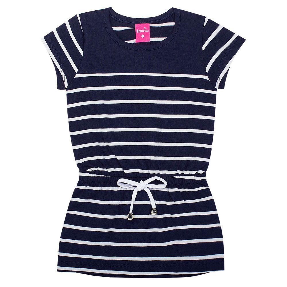 TMX1158-MR_A-moda-menina-vestido-listrado-cotton-marinho-tmx-no-bebefacil-loja-de-roupas-enxoval-e-acessorios-para-bebes