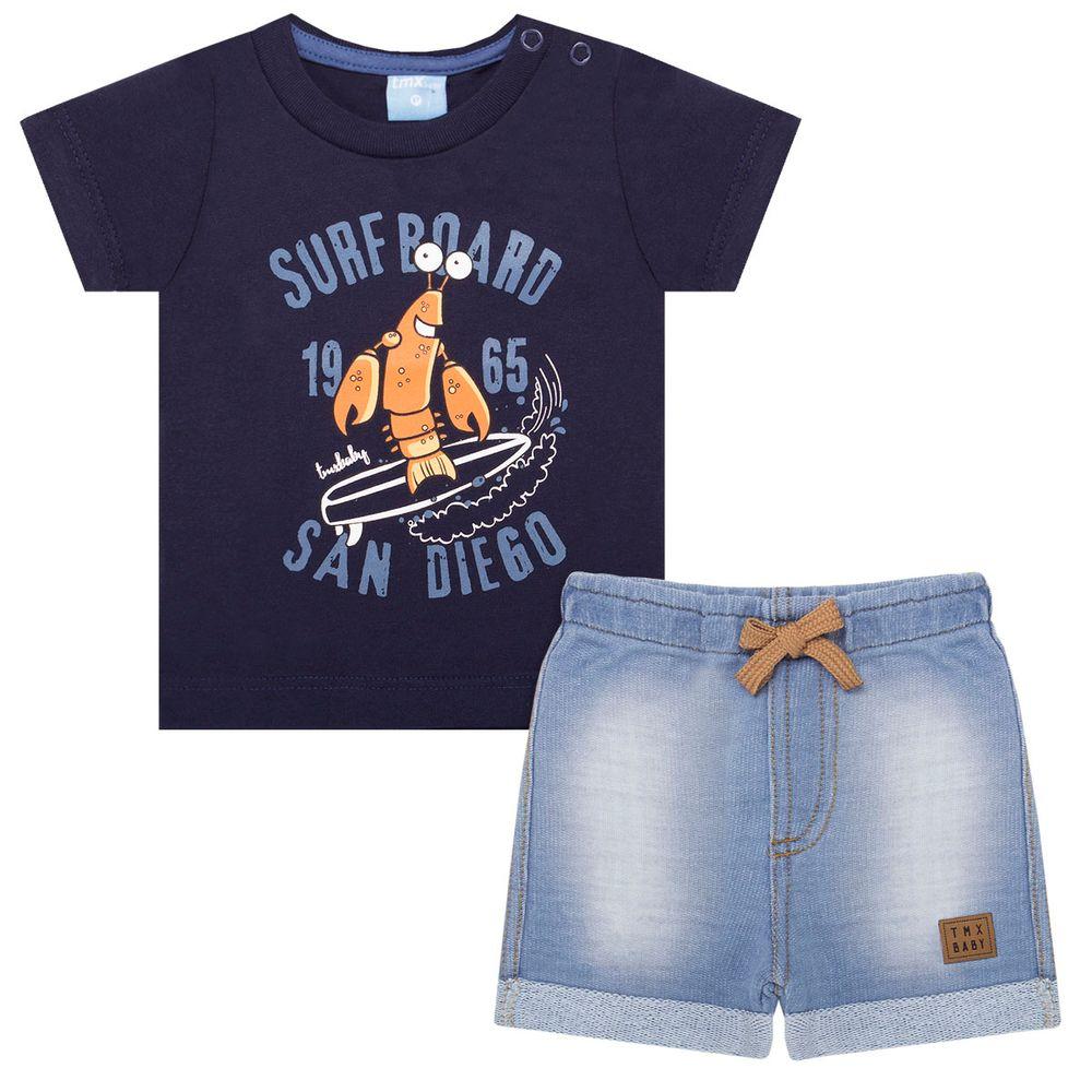 TMX4028-MR_A-moda-bebe-menino-conjunto-camiseta-bermuda-moletom-fleece-crab-tmx-no-bebefacil-loja-de-roupas-enxoval-e-acessorios-para-bebes