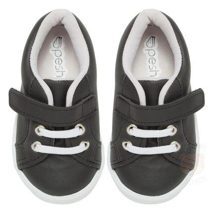 PS217-01T_A-sapatnho-menino-tenis-cadarco-velcro-preto-pesh-no-bebefacil-loja-de-roupas-enxoval-e-acessorios-para-bebes