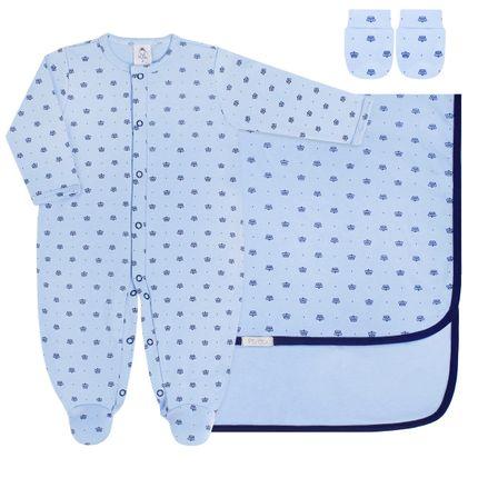PB8054_A-moda-bebe-menino-jogo-maternidade-macacao-longo-manta-luvas-em-suedine-coroinha-azul-piu-blu-no-bebefacil-loja-de-roupas-enxoval-e-acessorios-para-bebes