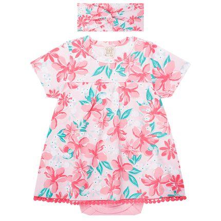 PL66110_A-moda-bebE-menina-body-vestido-faixa-turbante-em-cotton-flowers-pingo-lele-no-bebefacil-loja-de-roupas-enxoval-e-acessorios-para-bebes