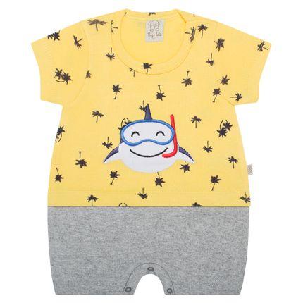 PL66124-AM_A-moda-bebe-menino-macacao-curto-sobreposto-suedine-tubarao-pingo-lele-no-bebefacil-loja-de-roupas-enxoval-e-acessorios-para-bebes