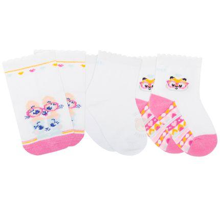 PK70845-COR-_A-moda-bebe-menina-meia-tripack-branca-corujinha-puket-no-bebefacil-loja-de-roupas-enxoval-e-acessorios-para-bebes