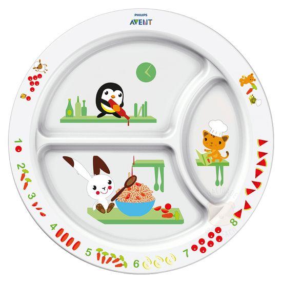 SCF702-00-A-Prato-com-divisorias-para-bebe-Animais--12m-----Philips-Avent