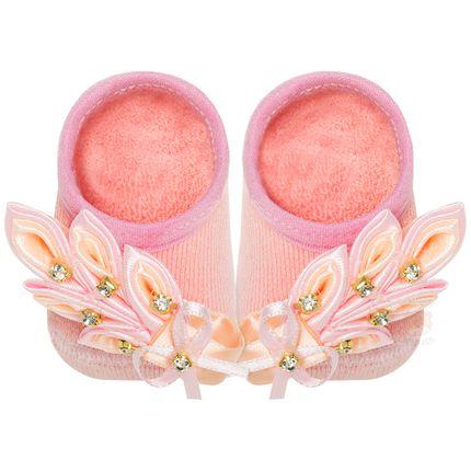 LK075.411_A-moda-bebe-menina-meia-sapatilha-bouquet-rose-leke-no-bebefacil-loja-de-roupas-enxoval-e-acessorios-para-bebes