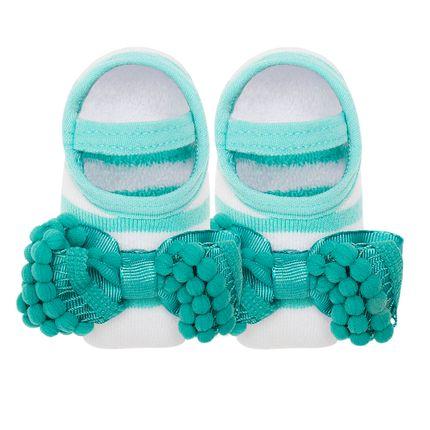 LK078.531_A-moda-bebe-menina-meia-sapatilha-laco-pompom-acqua-leke-no-bebefacil-loja-de-roupas-enxoval-e-acessorios-para-bebes