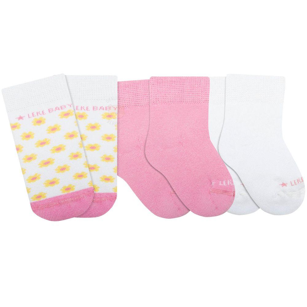 LK102.501-02_A-moda-bebe-menina-acessorios-tripack-kit-3-meias-soquete-florzinhas-no-bebefacil-loja-de-roupas-enxoval-e-acessorios-para-bebes